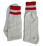 Oktoberfest Bavarian Socks Long Rustic White