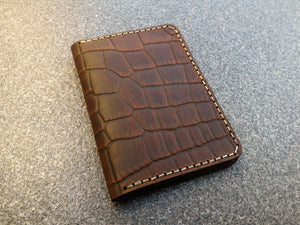 Croco Bifold Card Wallet