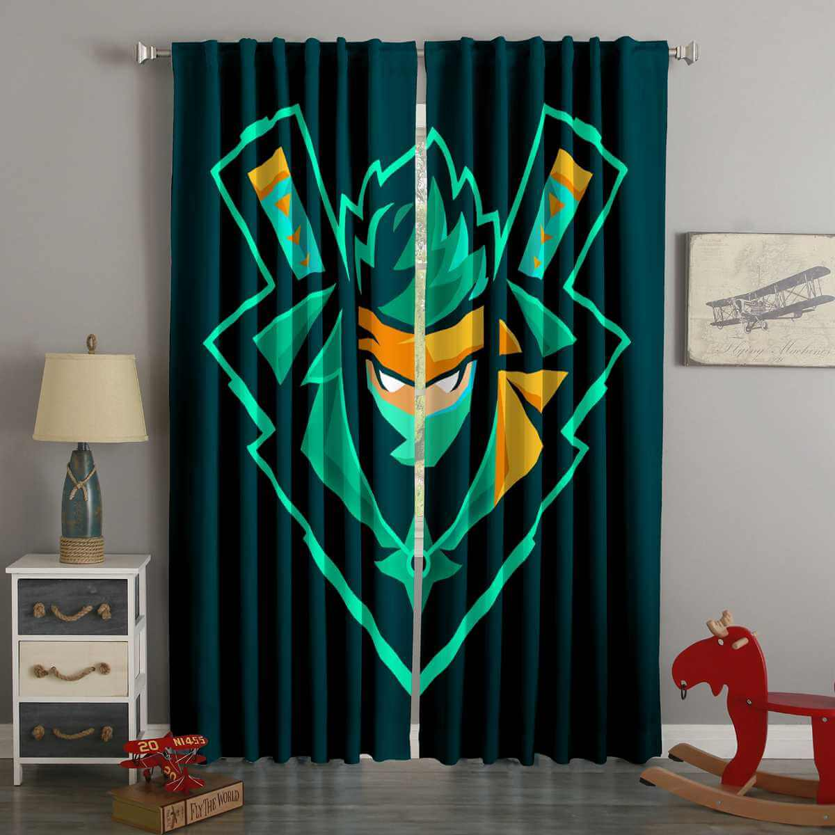 3D Printed Fortnite Style Custom Living Room Curtains