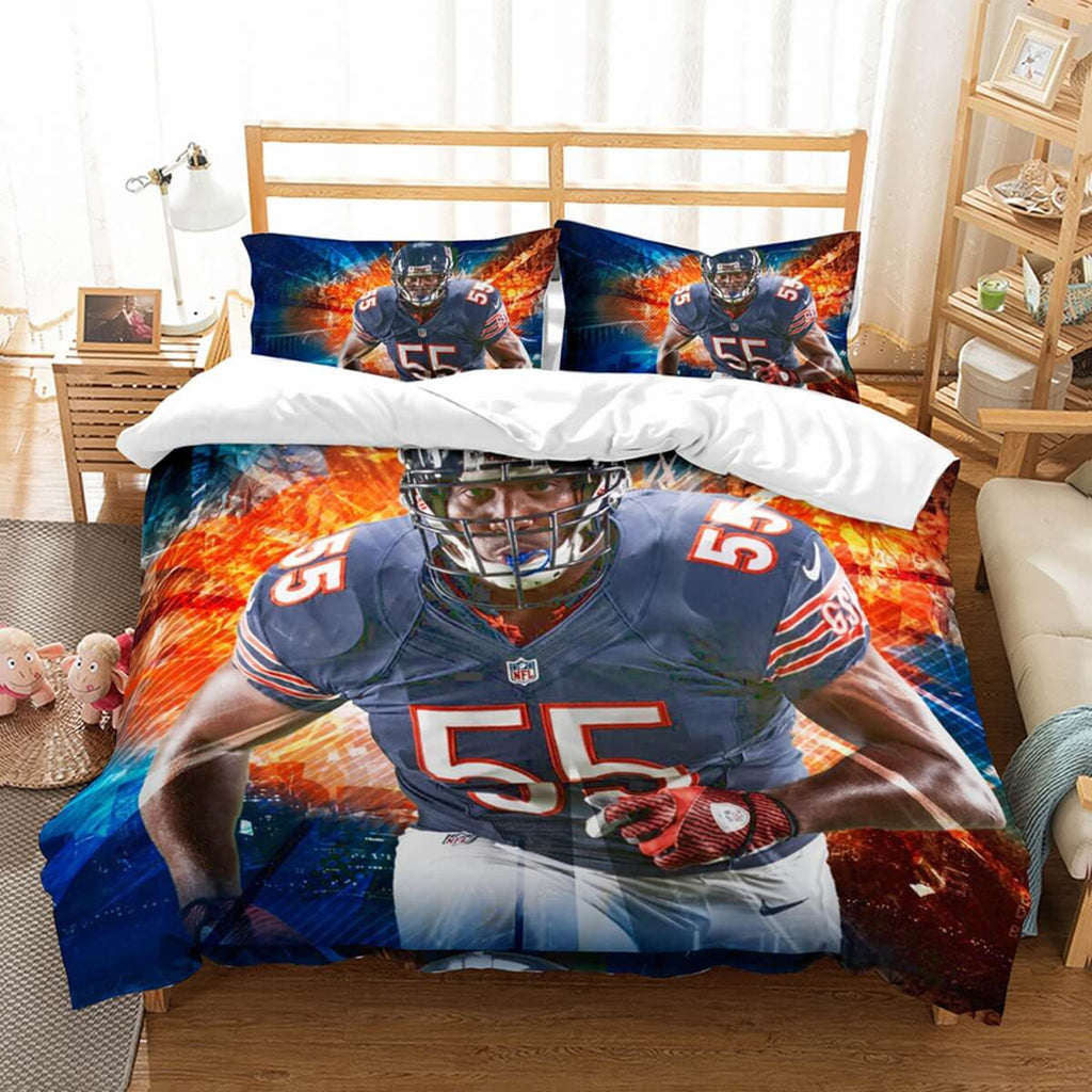 3D Customize Hroniss Grasu Chicago Bears Bedding Set Duvet Cover Set Bedroom Set Bedlinen