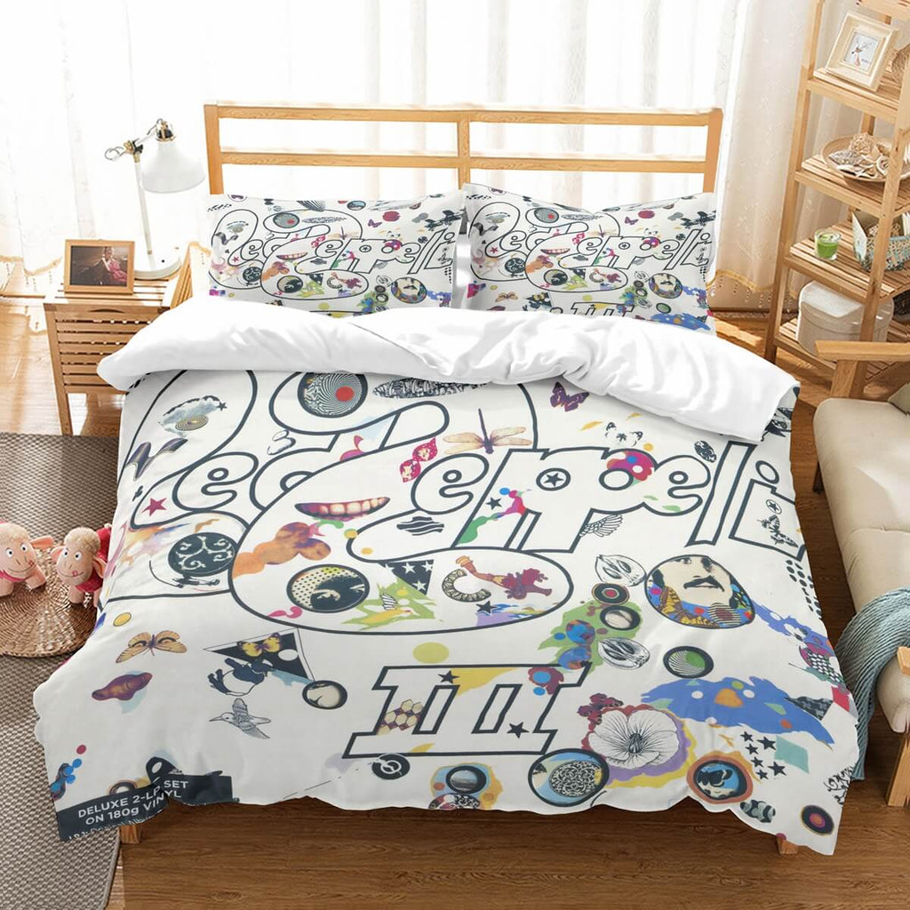 3D Customize Led Zeppelin Bedding Set Duvet Cover Set Bedroom Set Bedlinen