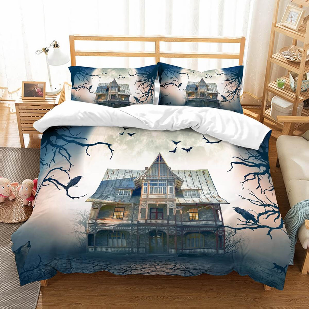 3D Customize Haunted House Bedding Set Duvet Cover Set Bedroom Set Bedlinen