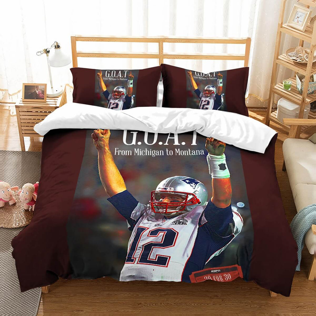 3D Customize Tom Brady Bedding Set Duvet Cover Set Bedroom Set Bedlinen