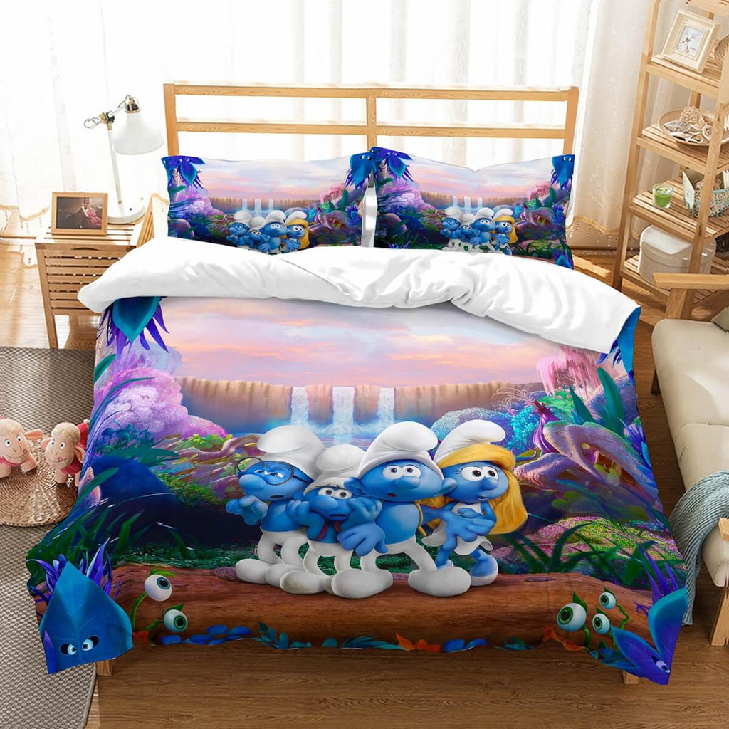 3D Customize The Smurfs Bedding Set Duvet Cover Set Bedroom Set Bedlinen