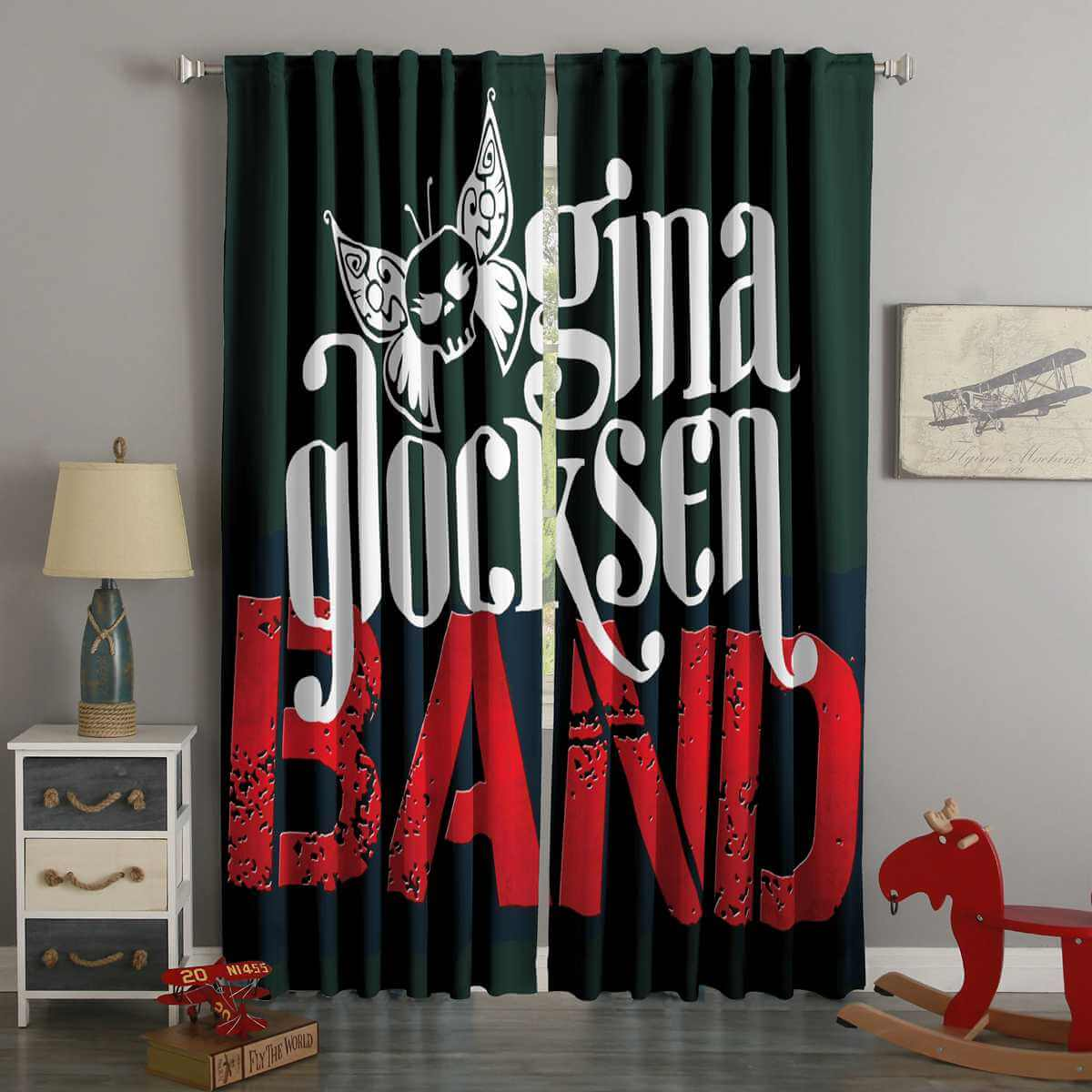 3D Printed Gina Glocksen Band Style Custom Living Room Curtains
