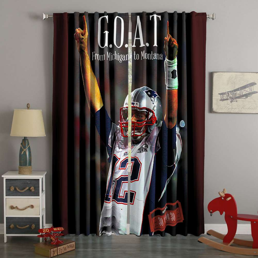 3D Printed Tom Brady Style Custom Living Room Curtains
