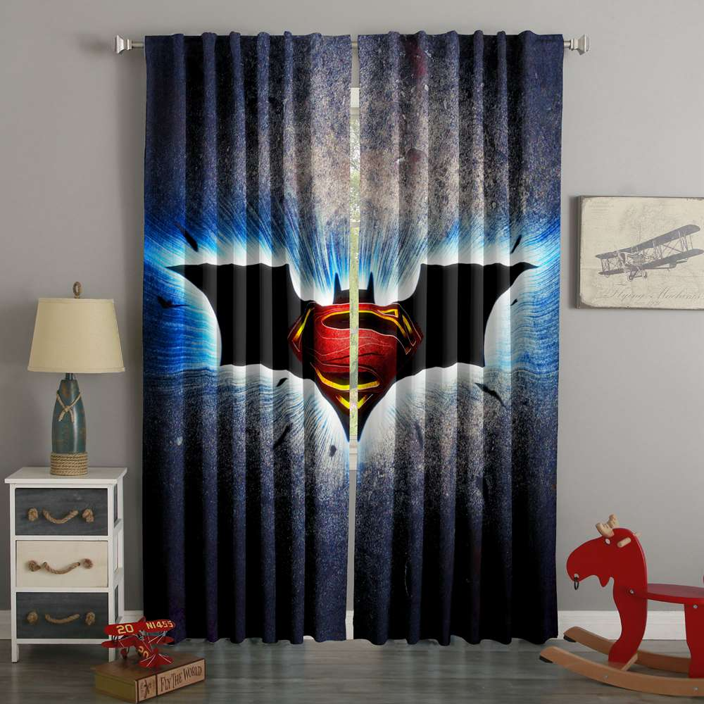 3D Printed Batman vs Superman Style Custom Living Room Curtains