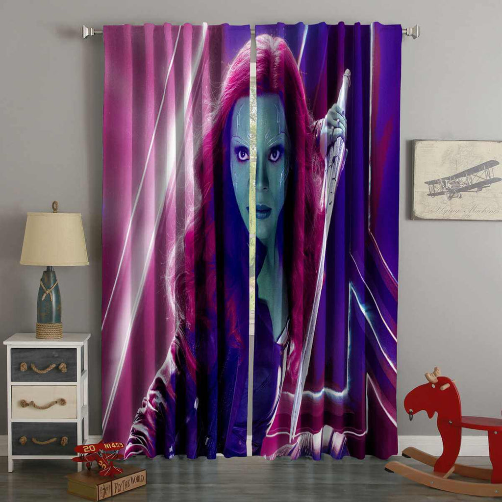 3D Printed Gamora In Avengers Infinity War Style Custom Living Room Curtains