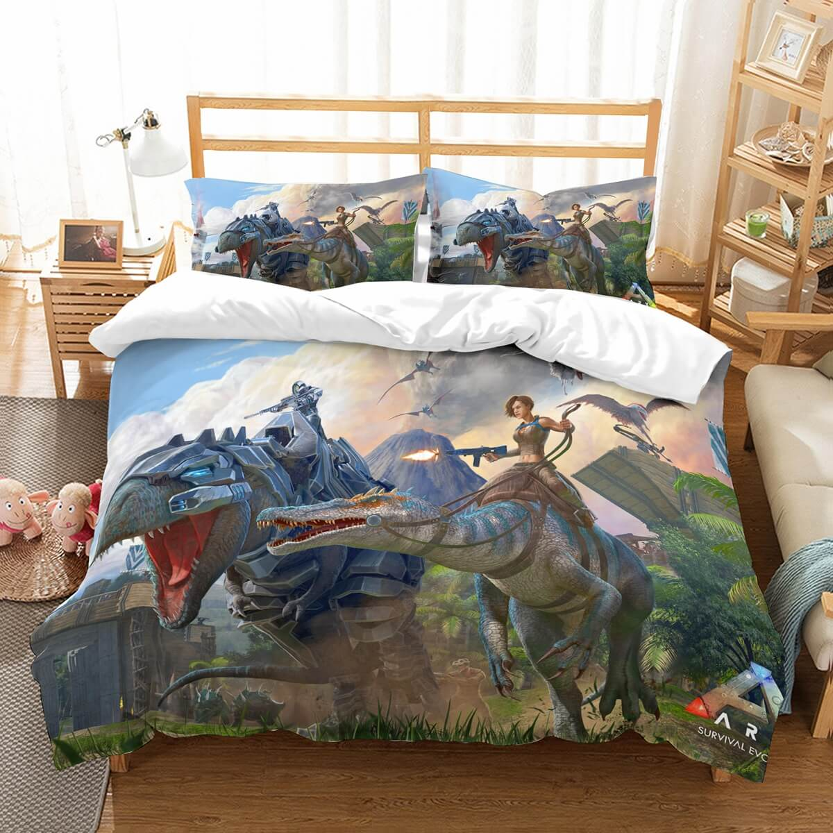 3D Customize Ark Survival Evolved Bedding Set Duvet Cover Set Bedroom Set Bedlinen