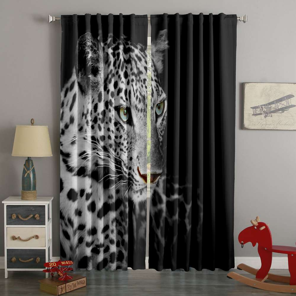3D Printed Leopard Style Custom Living Room Curtains