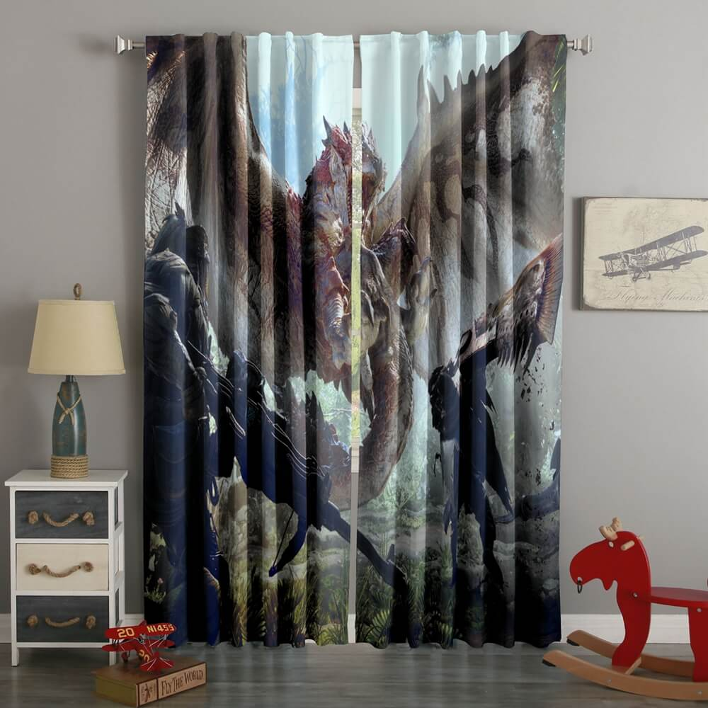 3D Printed Night Argent Style Custom Living Room Curtains