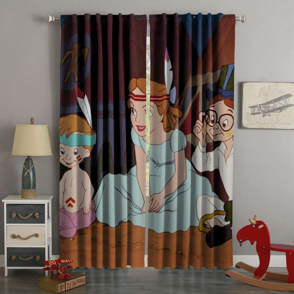 3D Printed Peter Pan Style Custom Living Room Curtains