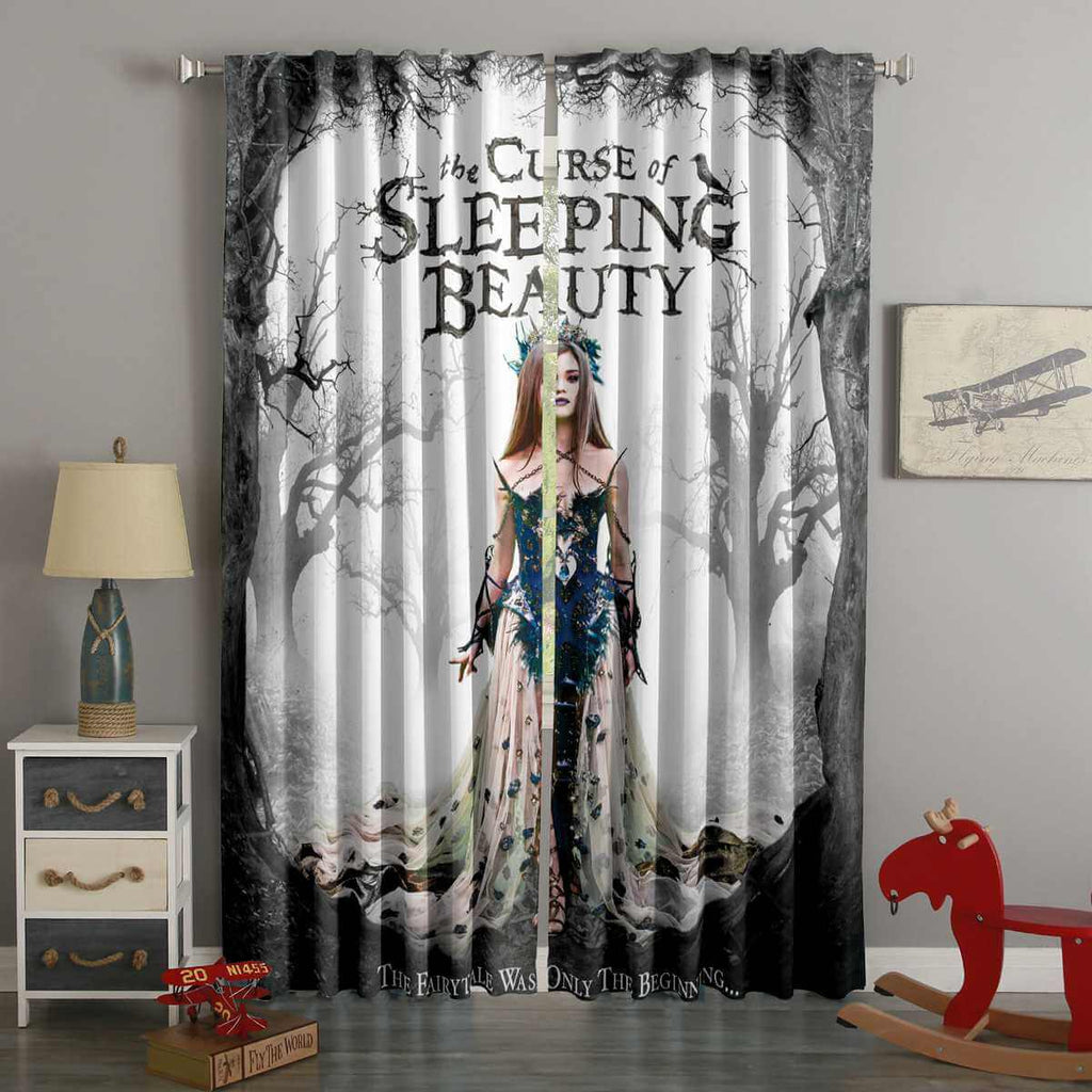 3D Printed The Curse of Sleeping Beauty Style Custom Living Room Curtains