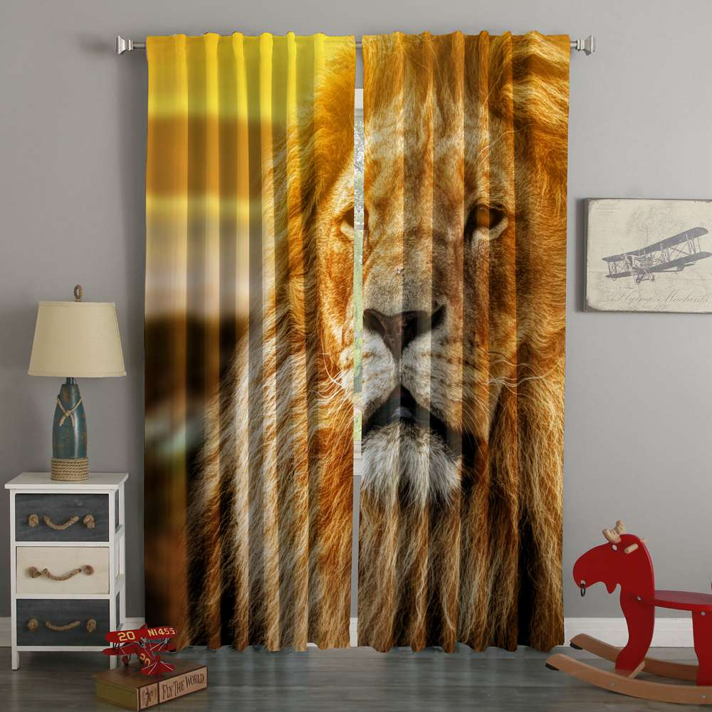 3D Printed Lion Style Custom Living Room Curtains