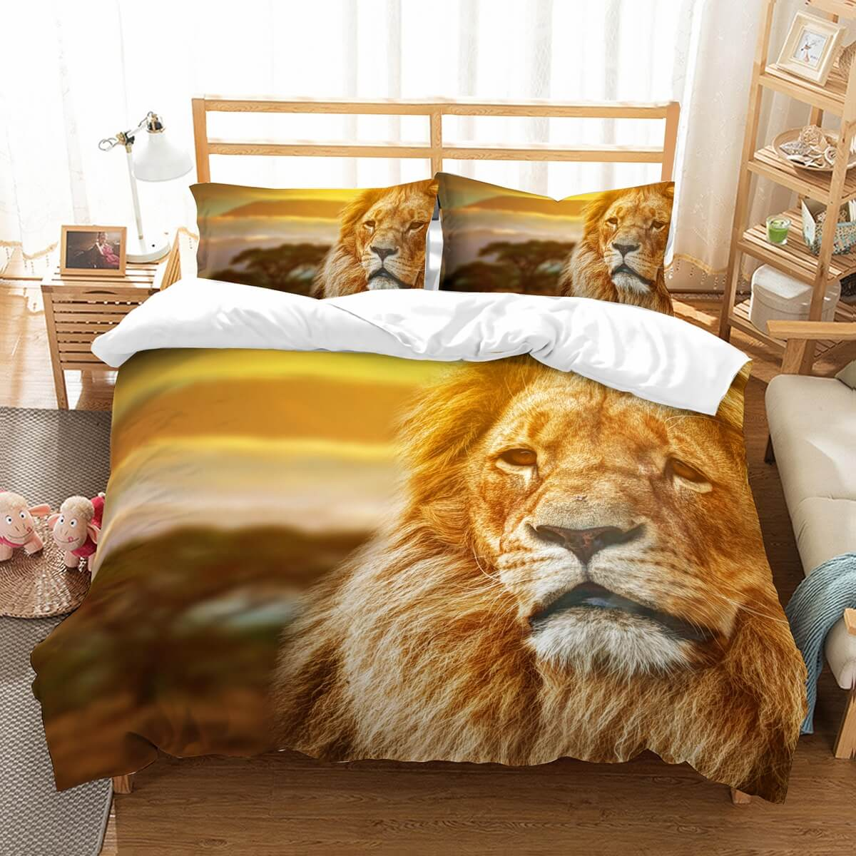 3D Customize Lion Bedding Set Duvet Cover Set Bedroom Set Bedlinen