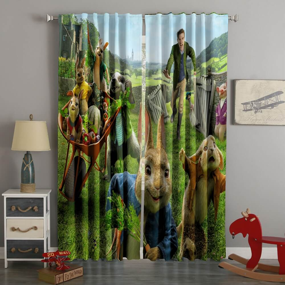 3D Printed Peter Rabbit Style Custom Living Room Curtains