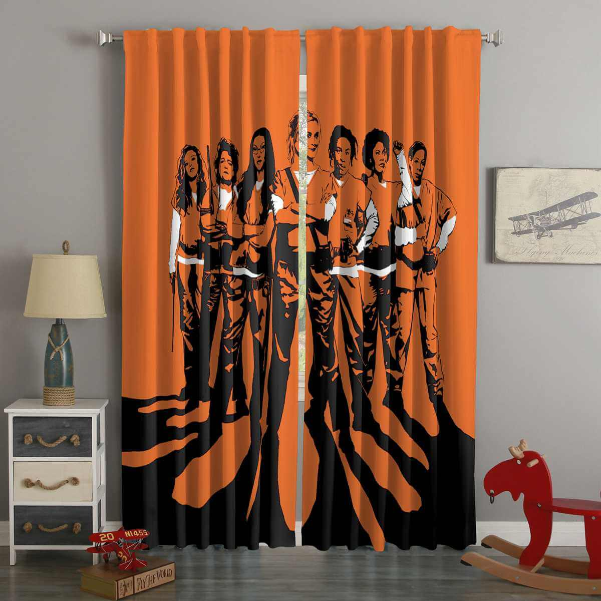 3D Printed Orange Is the New Black Style Custom Living Room CurtainsJosh Gordon