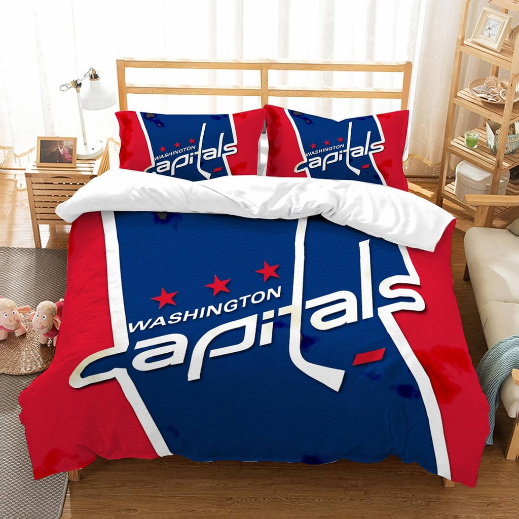Copy of 3D Customize Washington Capitals Bedding Set Duvet Cover Set Bedroom Set Bedlinen