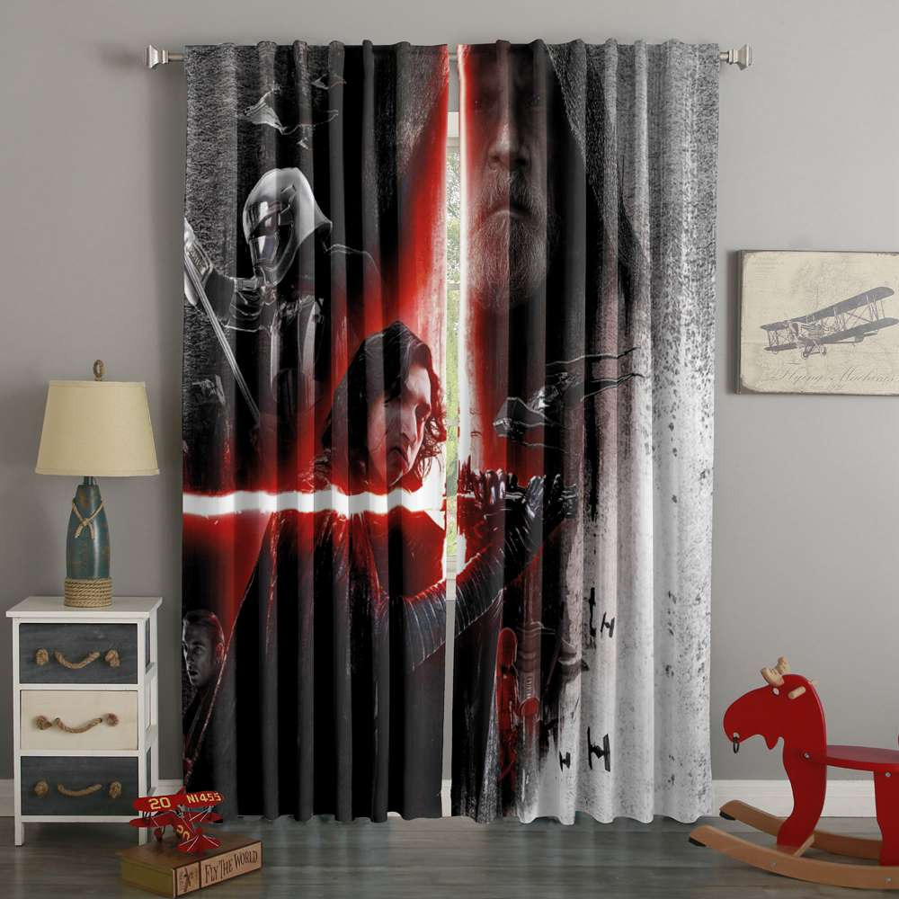 3D Printed Star Wars The Last Jedi Style Custom Living Room Curtains