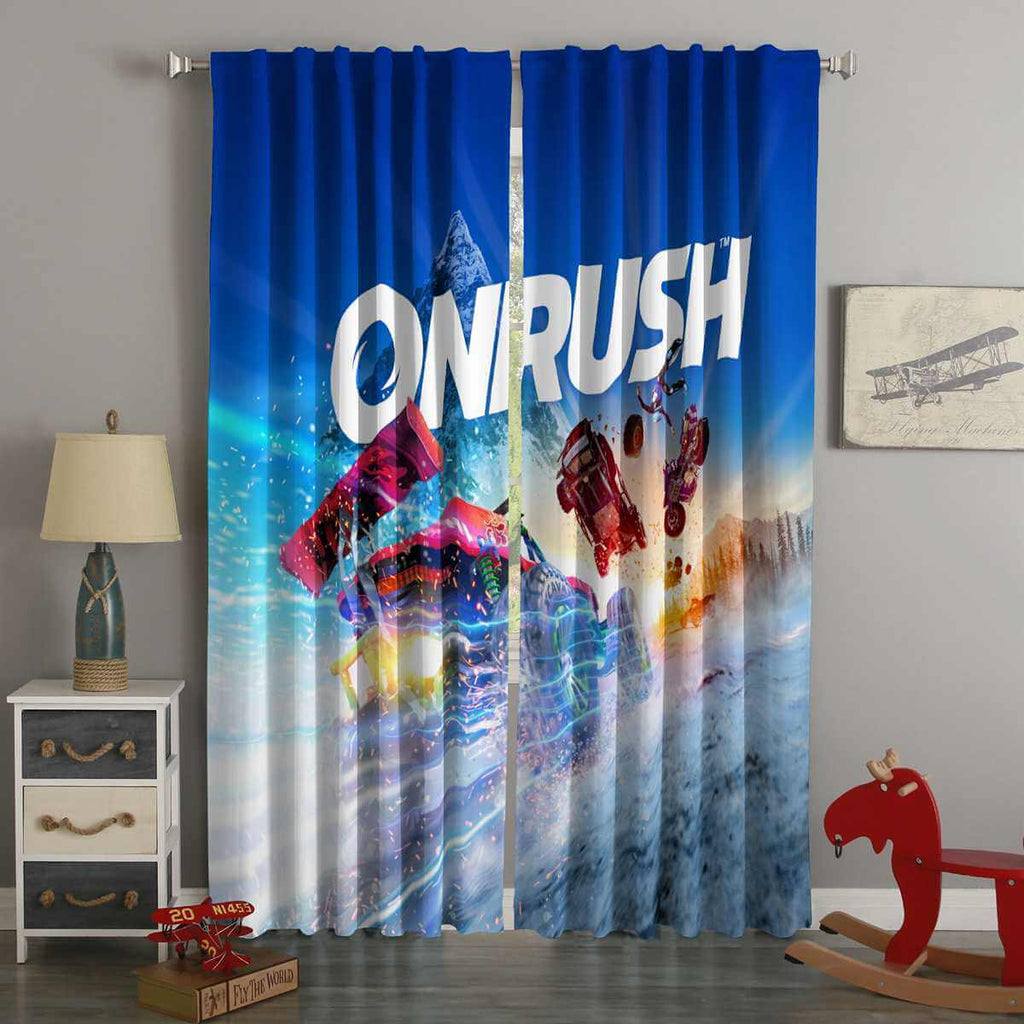 3D Printed Onrush Style Custom Living Room Curtains