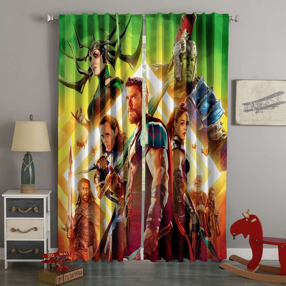 3D Printed Thor Ragnarok Style Custom Living Room Curtains