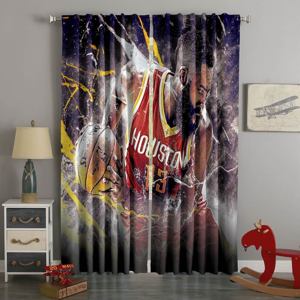 3D Printed James Harden Style Custom Living Room Curtains