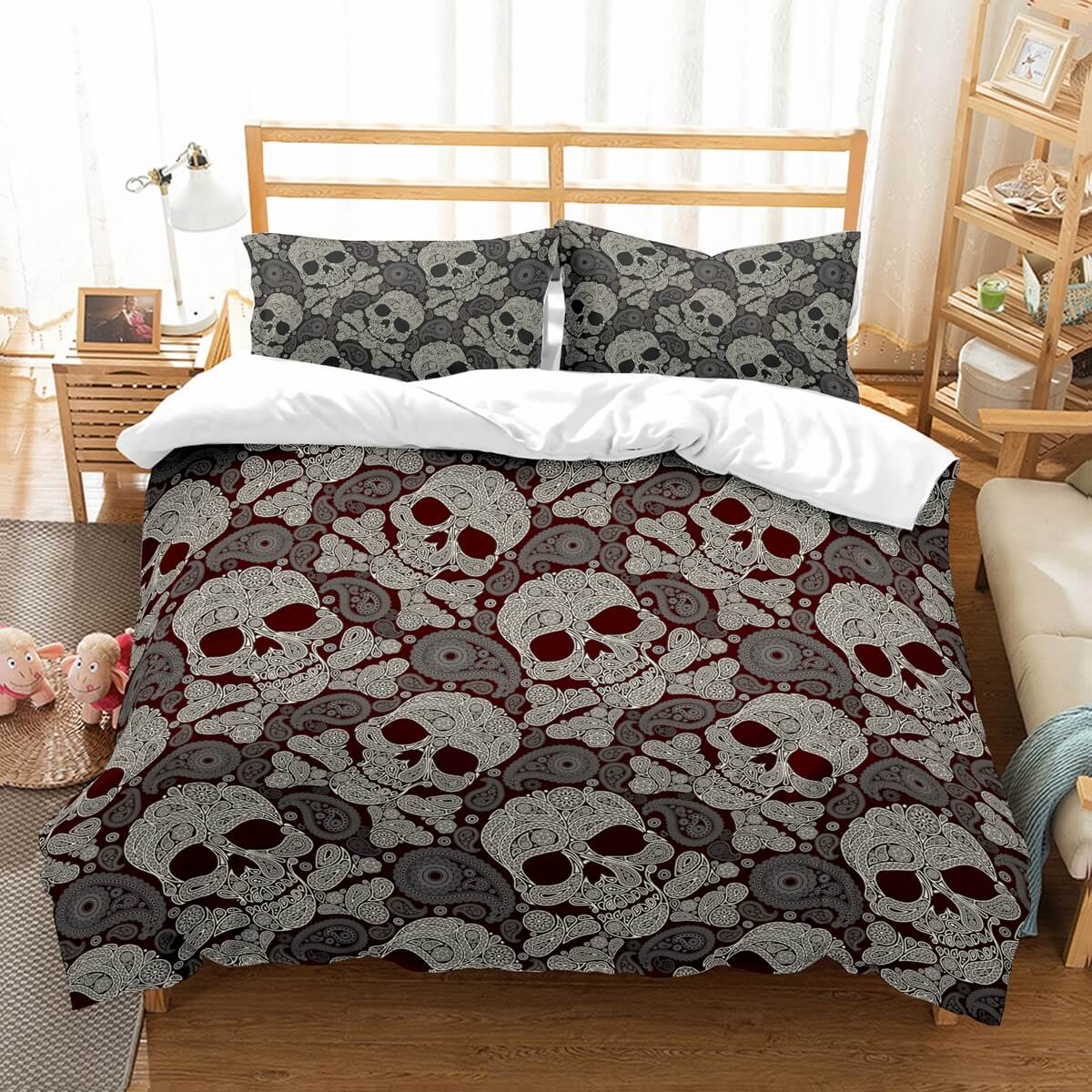 3D Customize Skull Bedding Set Duvet Cover Set Bedroom Set Bedlinen