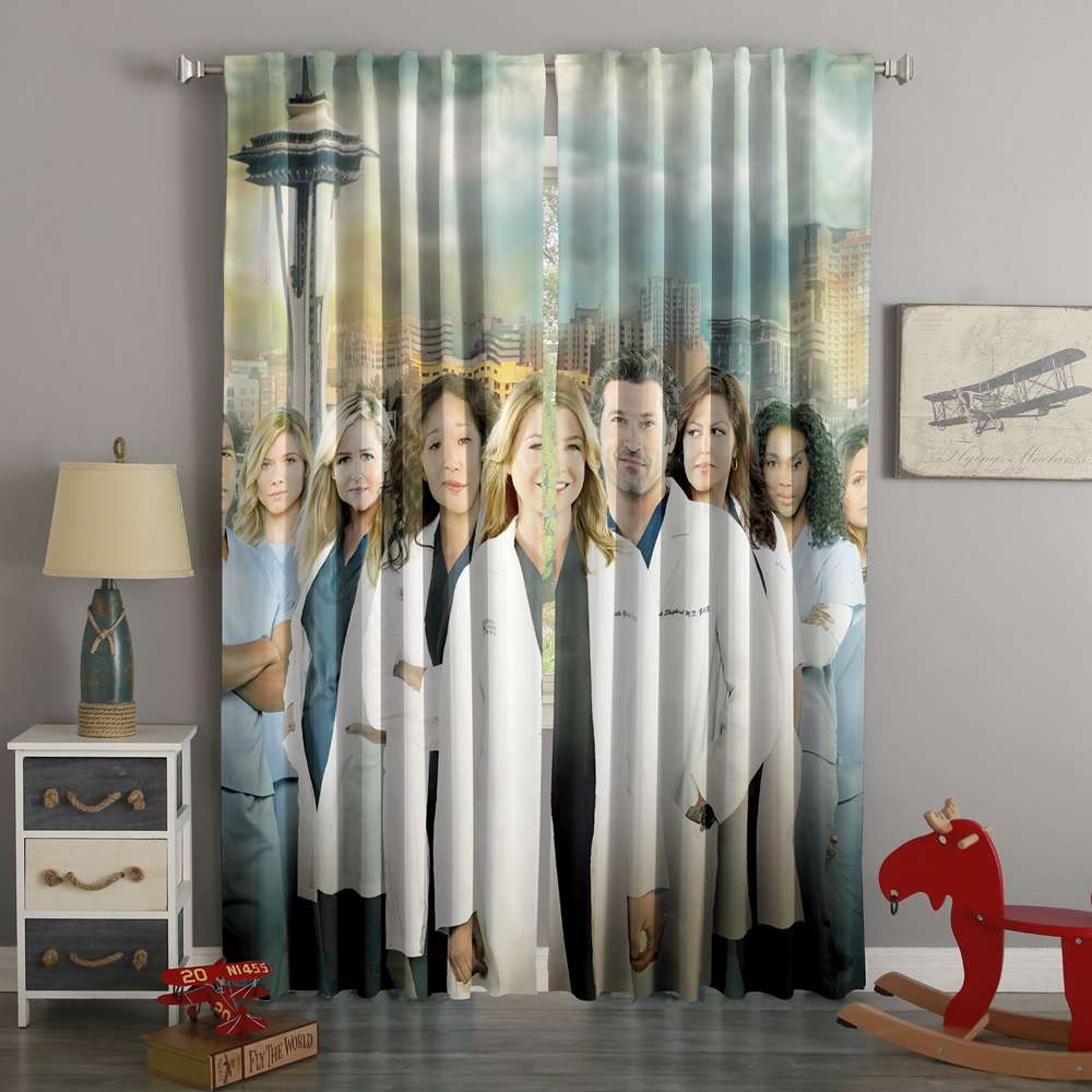 3D Printed Grey's Anatomy Custom Living Room Curtains
