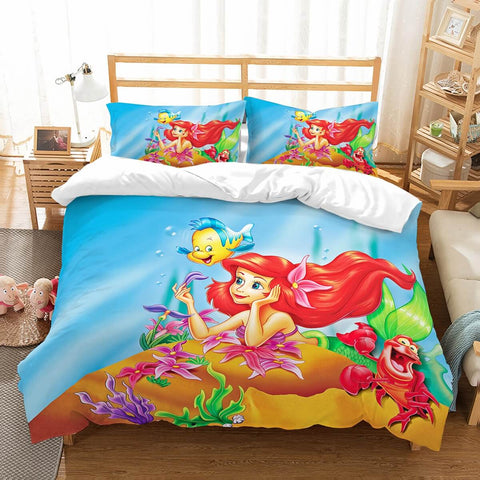 3D Customize The Little Mermaid Bedding Set Duvet Cover Set Bedroom Set Bedlinen