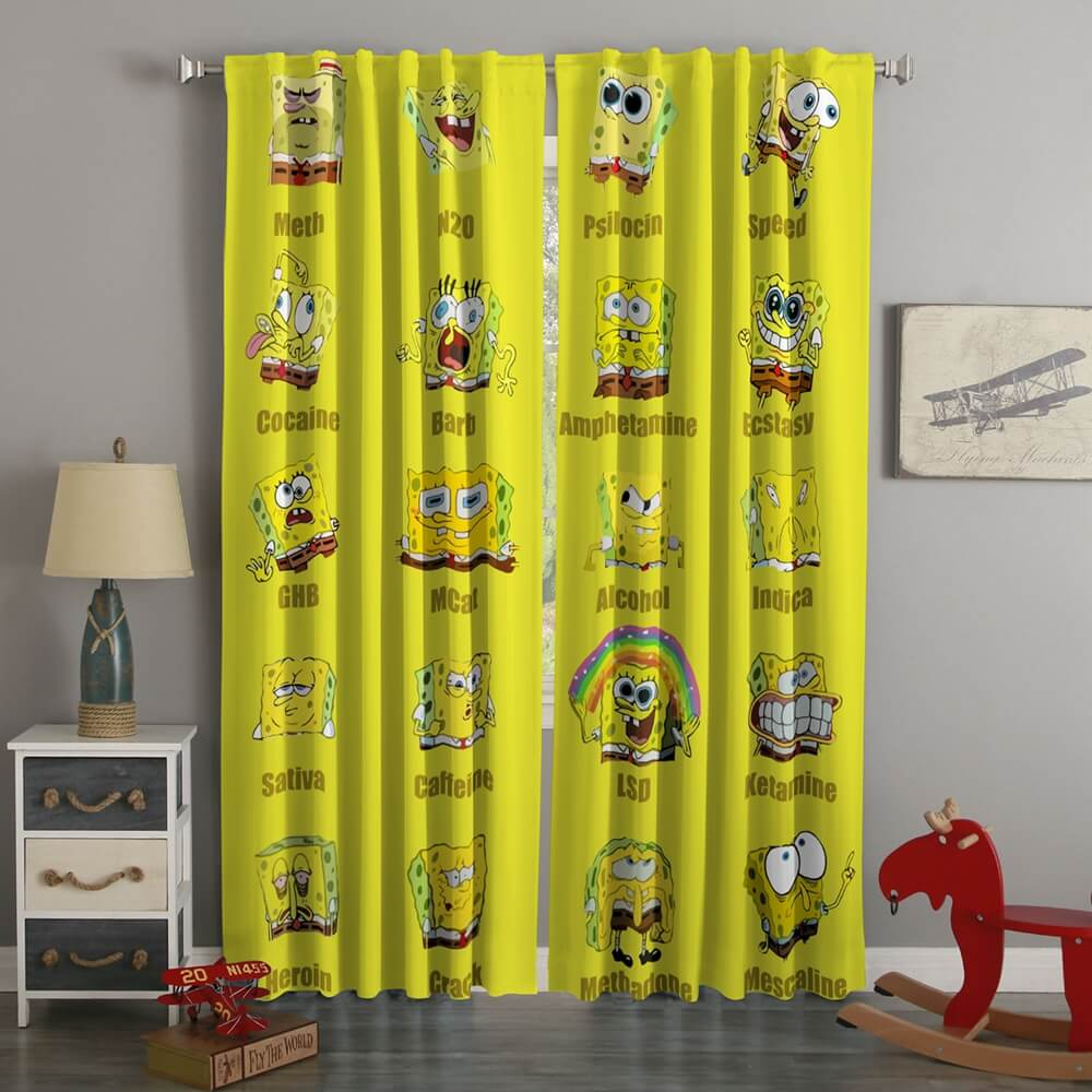 3D Printed SpongeBob SquarePants Style Custom Living Room Curtains
