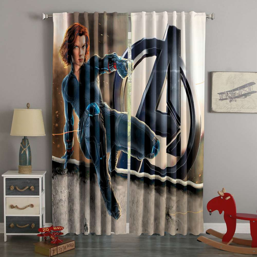 3D Printed Avengers Age Of Ultron Style Custom Living Room Curtains