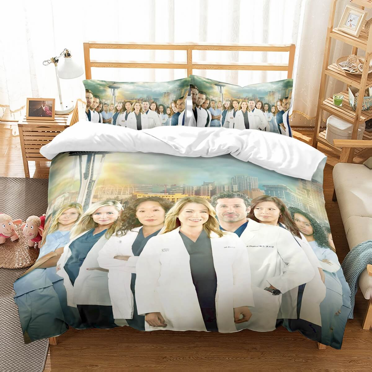 3D Customize  Grey's Anatomy Bedding Set Duvet Cover Set Bedroom Set Bedlinen
