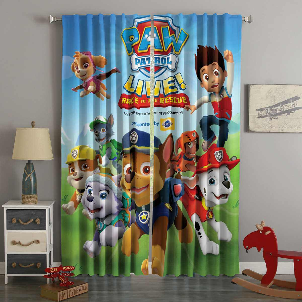 3D Printed PAW Patrol Style Custom Living Room Curtains