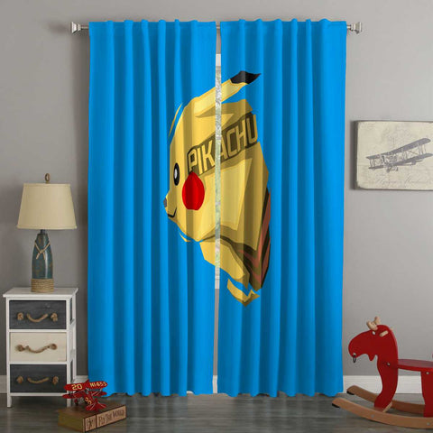 3D Printed Pikachu Style Custom Living Room Curtains