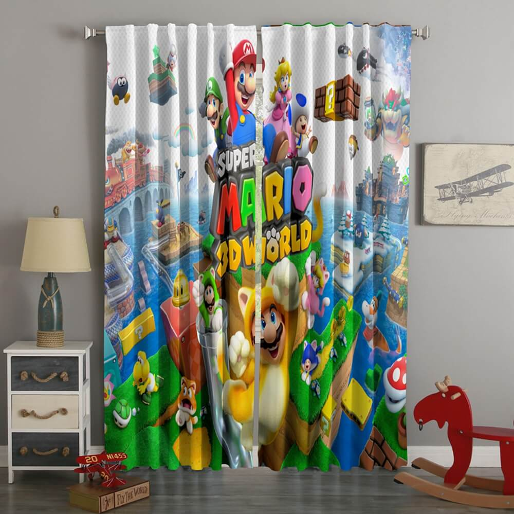 3D Printed Super Mario 3D World Style Custom Living Room Curtains