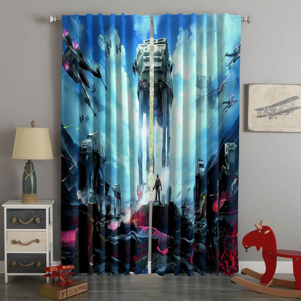 3D Printed Star Wars Battlefront Style Custom Living Room Curtains