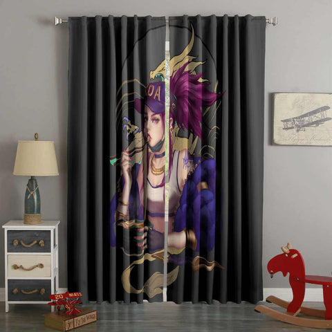 3D Printed League of Legends Style Custom Living Room Curtains