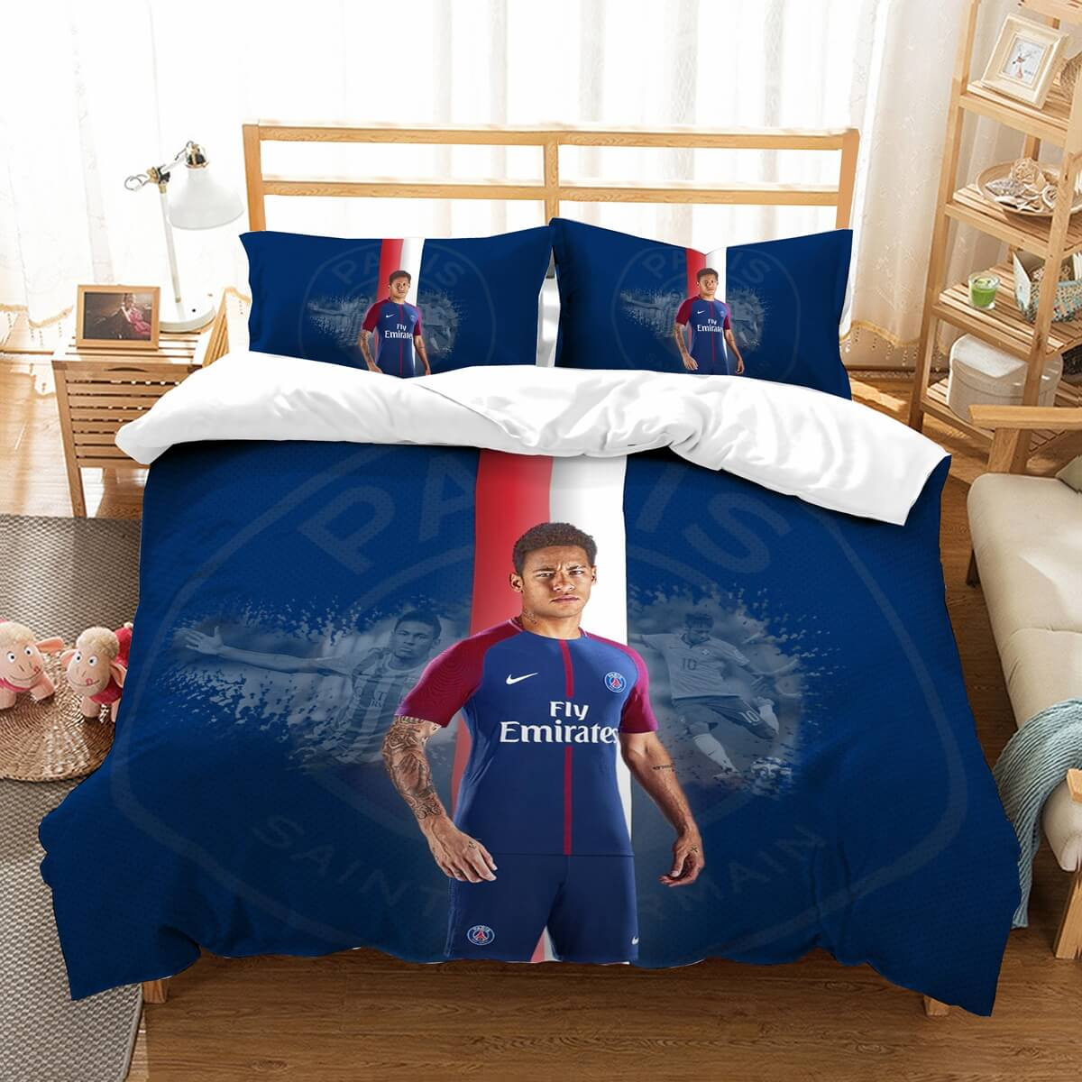 3D Customize Neymar Bedding Set Duvet Cover Set Bedroom Set Bedlinen