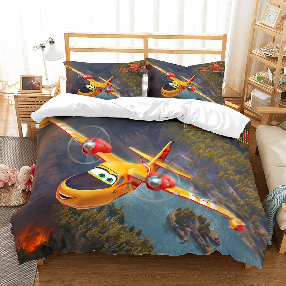 3D Customize PLANES FIRE & RESCUE Bedding Set Duvet Cover Set Bedroom Set Bedlinen
