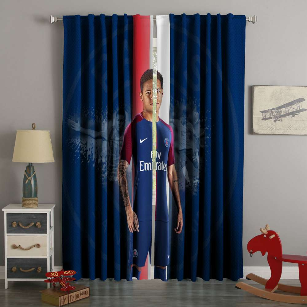 3D Printed Neymar Style Custom Living Room Curtains