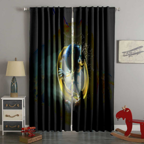 3D Printed Sonic the Hedgehog Style Custom Living Room Curtains
