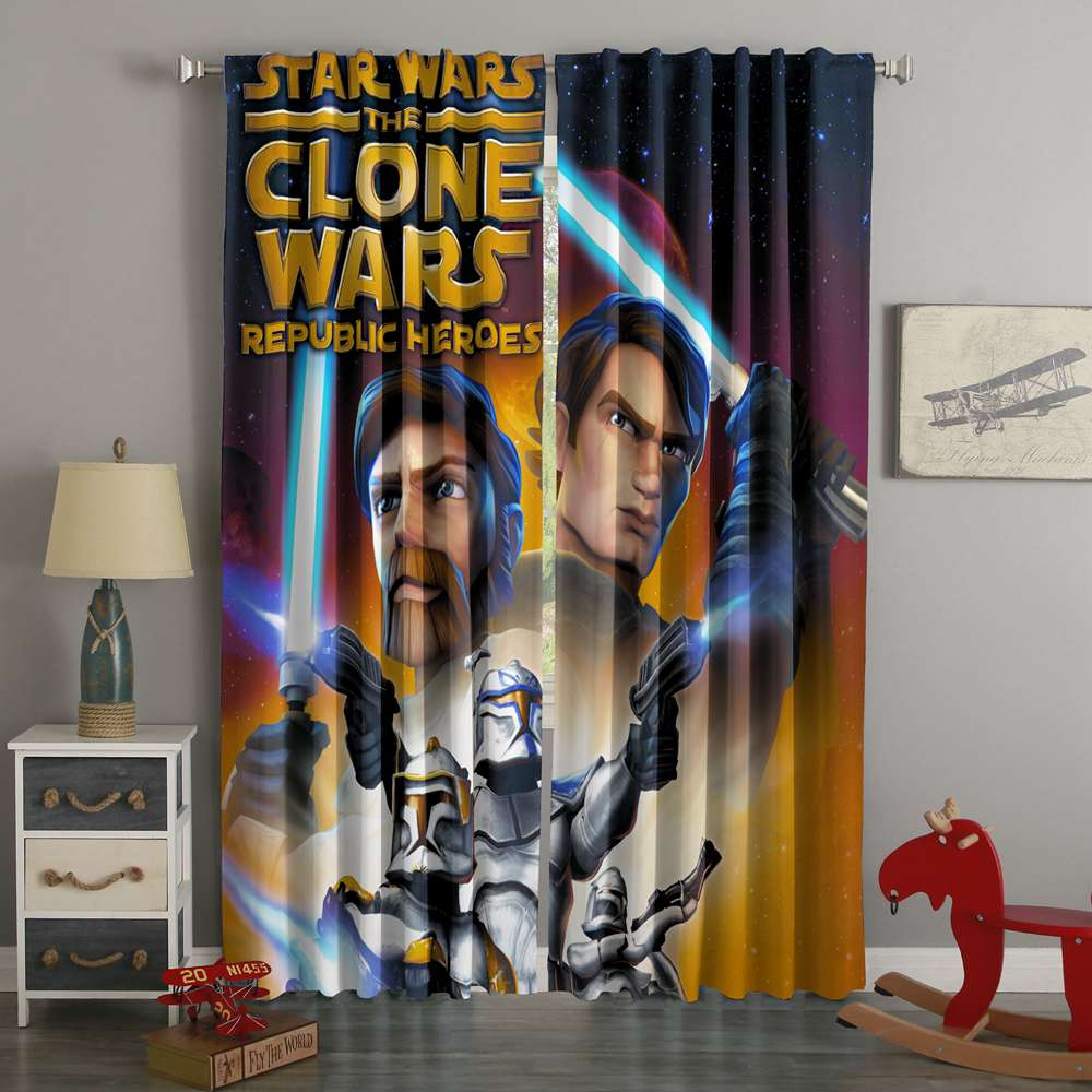 3D Printed Star Wars The Clone Wars Style Custom Living Room Curtains