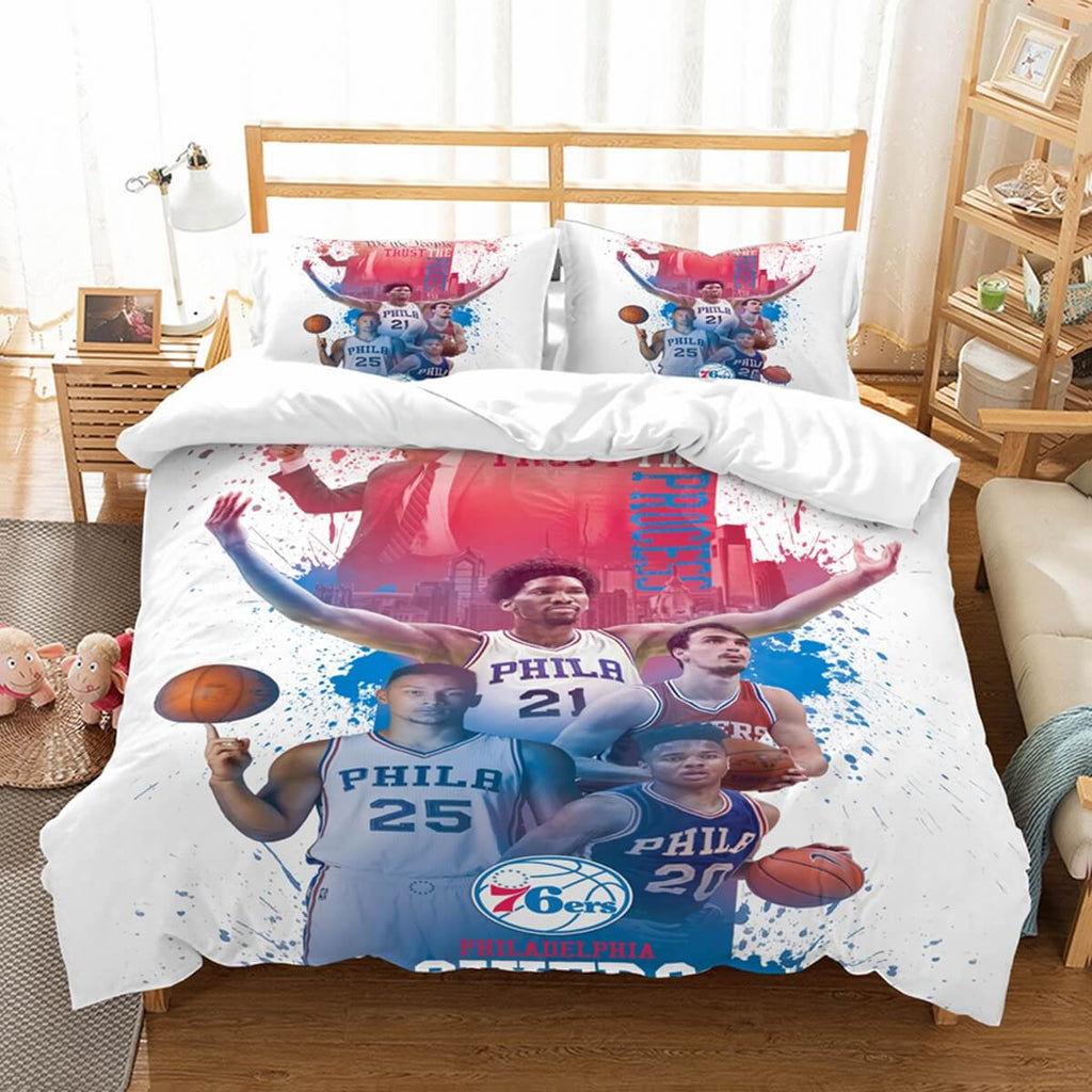 3D Customize Philadelphia 76ers Bedding Set Duvet Cover Set Bedroom Set Bedlinen