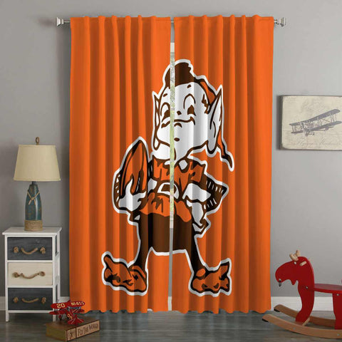 3D Printed Cleveland Browns Style Custom Living Room Curtains