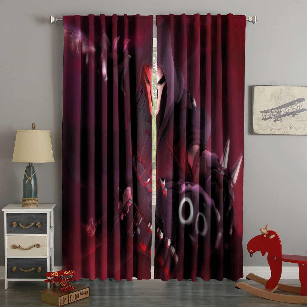 3D Printed Reaper Overwatch Style Custom Living Room Curtains