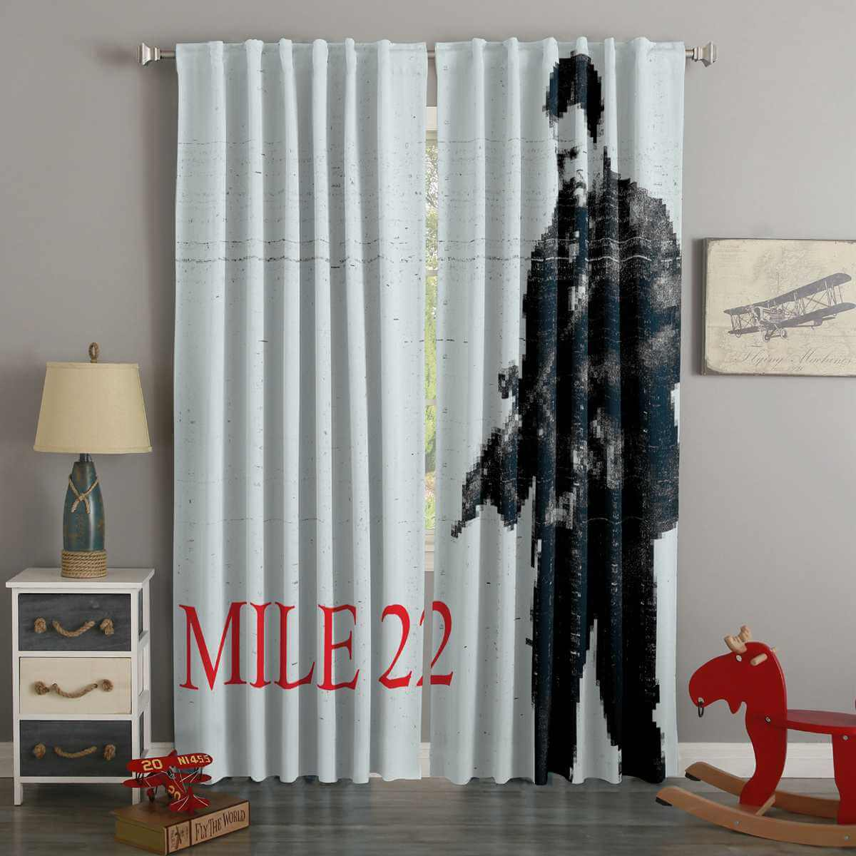 3D Printed Mile 22 Style Custom Living Room Curtains