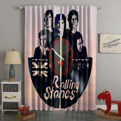 3D Printed The Rolling Stones Style Custom Living Room Curtains