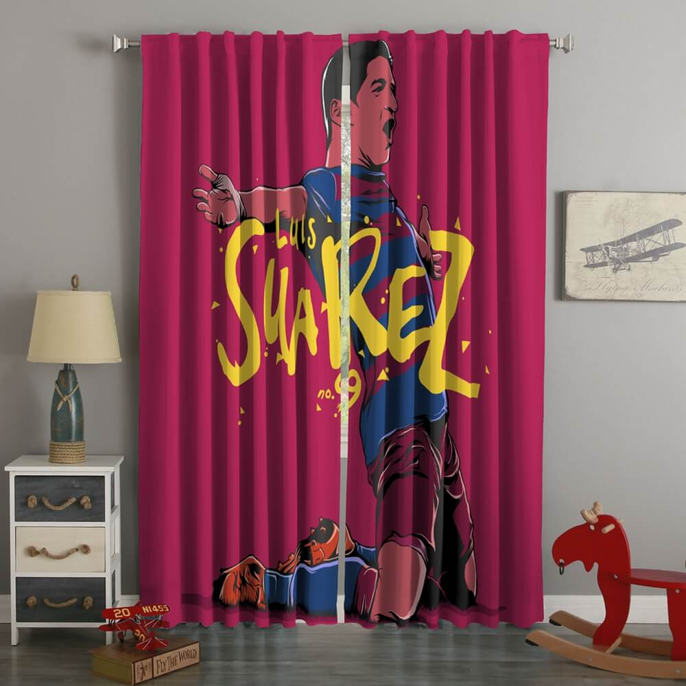 3D Printed Luis Suarez Style Custom Living Room Curtains