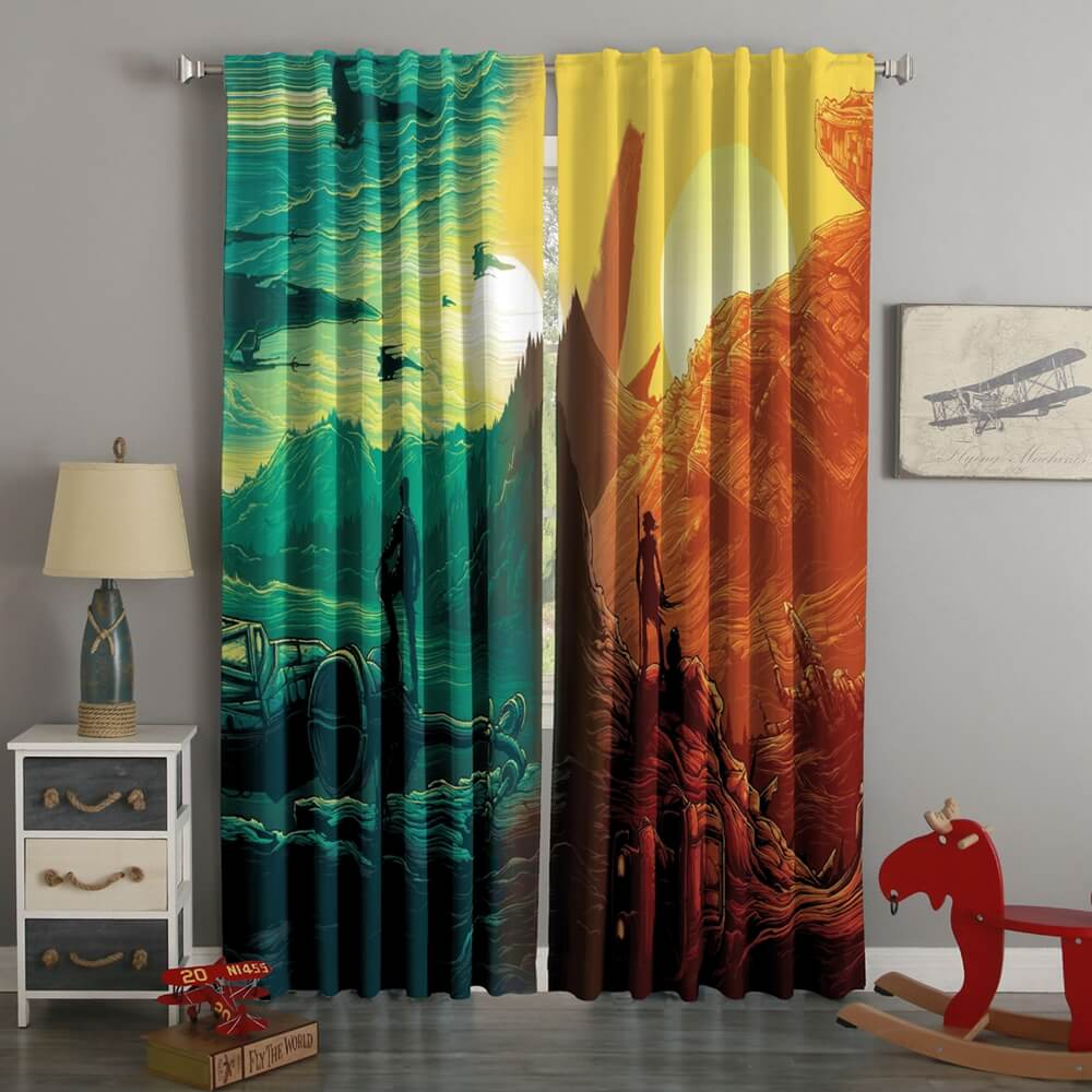 3D Printed Star Wars Style Custom Living Room Curtains