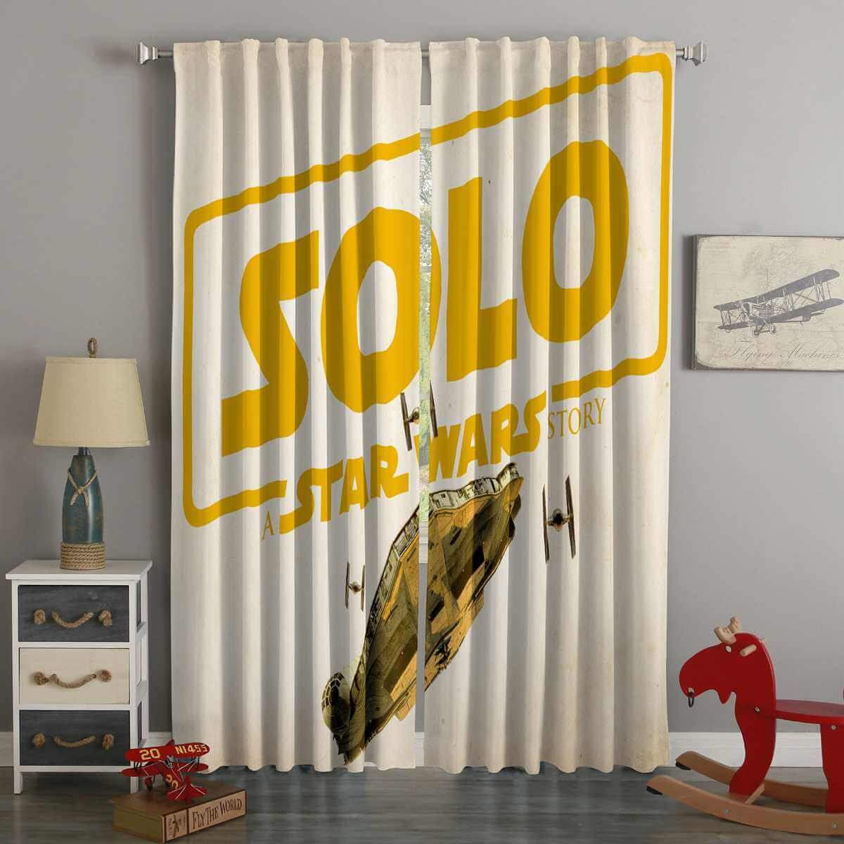 3D Printed Solo A Star Wars Story Style Custom Living Room Curtains